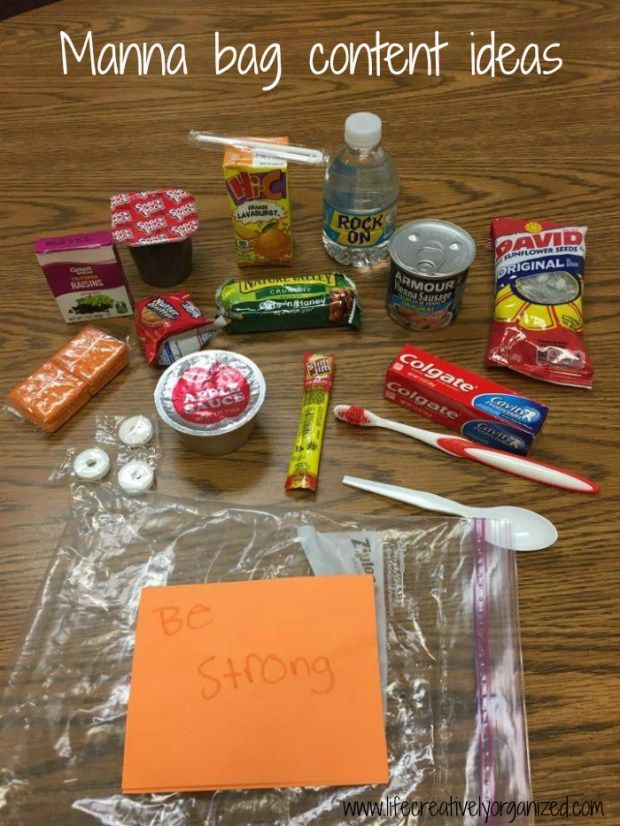 Make Manna Bags For The Homeless