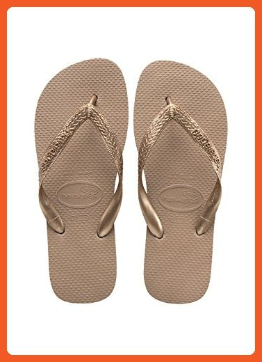 2d1bf82754001f Havaianas Top Tiras - Rose Gold (Synthetic) Womens Sandals 6 7 UK - Sandals  for women ( Amazon Partner-Link)