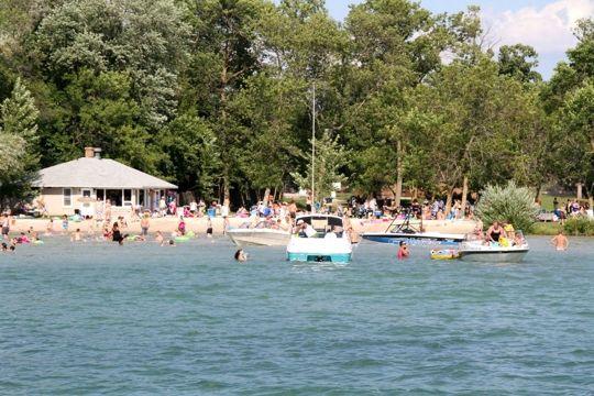 Kids Swimming In A Lake fireman's park & swimming beach - elkhart lake, wi - kid friendly