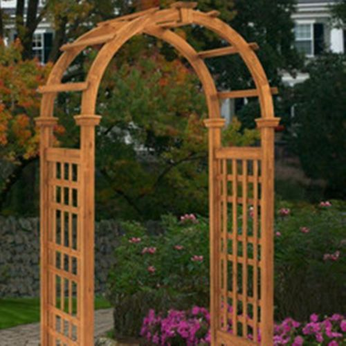 Outdoor Rosewood Garden Arbor Trellis Arch Top Add Decor To Your Spring Spruce Up Accessories