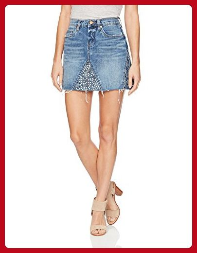 Topshop Petite Studded Denim Skirt | Skirts