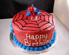 Simple Spiderman Cake Idea For The Boys Birthday The Inside Is