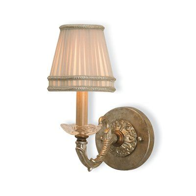 Currey & Company 5104 Halo Wall Sconce, Silver Leaf