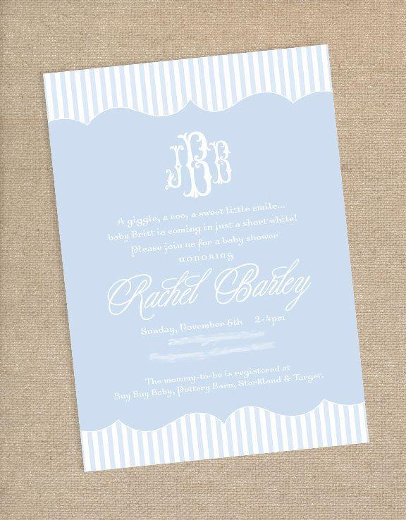 Monogram baby shower invitation 1500 via etsy paper play monogram baby shower invitation 1500 via etsy filmwisefo