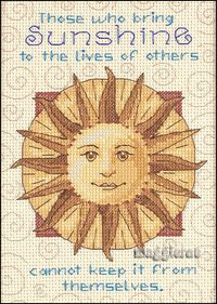 BRING SUNSHINE TO OTHERS ~ counted cross stitch kit ~ RARE
