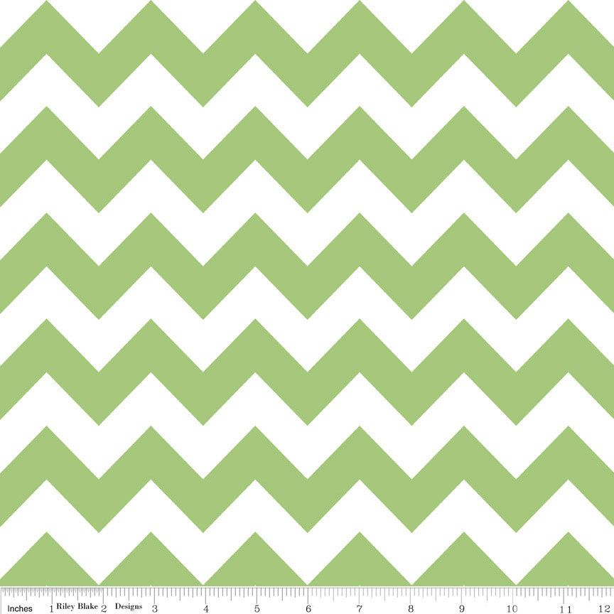 Riley Blake Chevron fabric in Green, C320-30 - Felt Dahlia ...