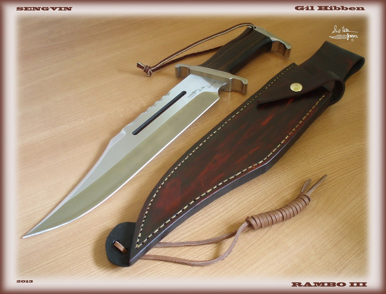 Rambo III custom with authentic movie sheath made by Gil