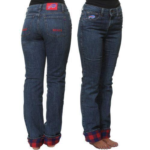 fa0d3af7 Buffalo Bills Women's Safety Flannel Denim Jeans #Fanatics ...