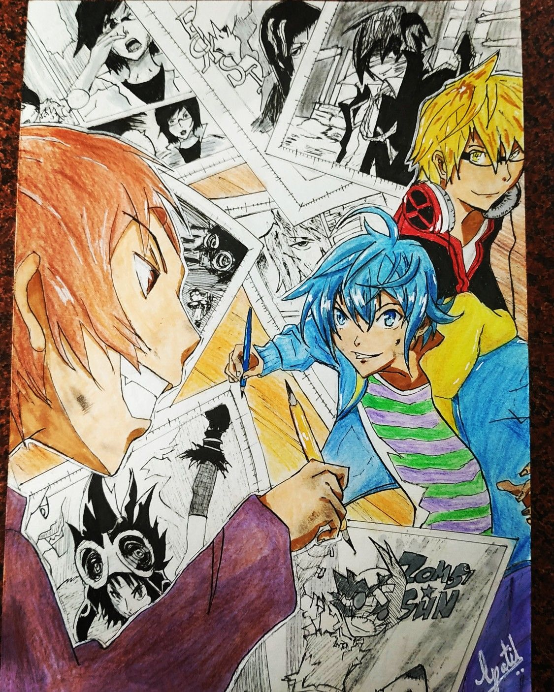 Bakuman (Nizuma eiji vs Ashirogi muto) in 2020 Fan art