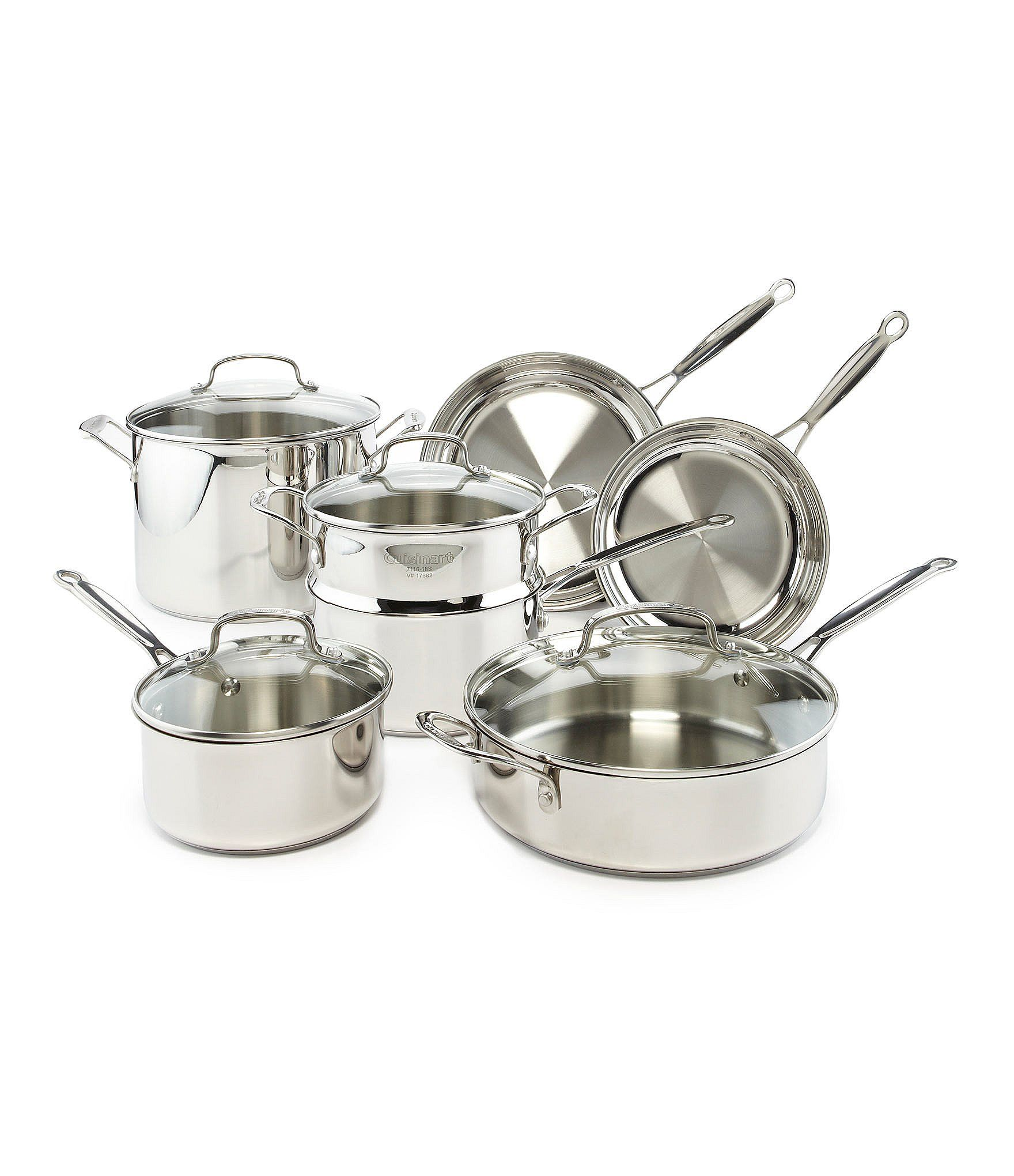 Cuisinart Chef S Classic Stainless Steel 11 Piece Cookware Set Dillard S In 2021 Cookware Set Cuisinart Piecings Cuisinart 11 piece cookware set