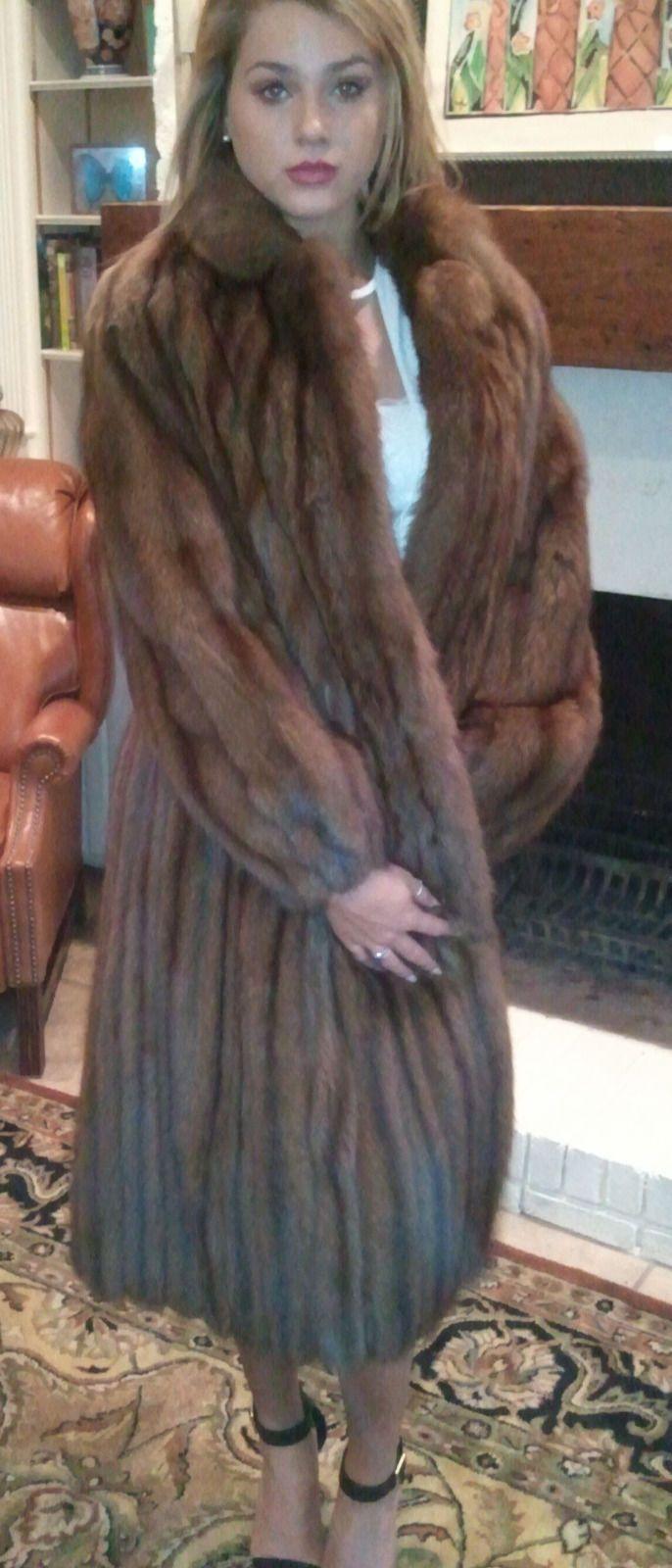 Details About Mink Sable Women S Fur Coat Full Length