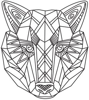 Craft A Majestic Look With This Geometric Wolf Design Downloads