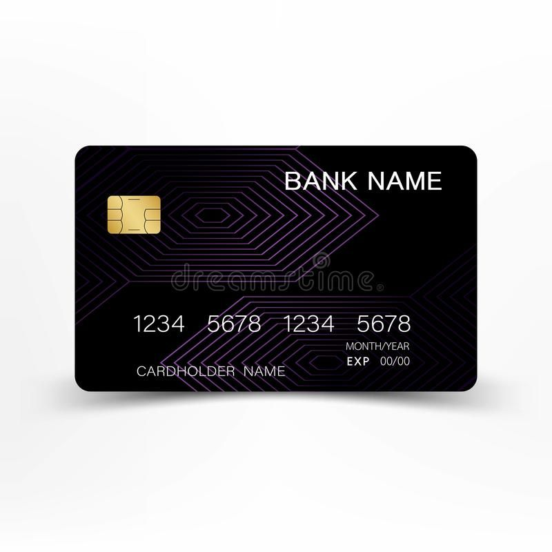 Colorful Credit Card Set Design Modern Credit Card Template