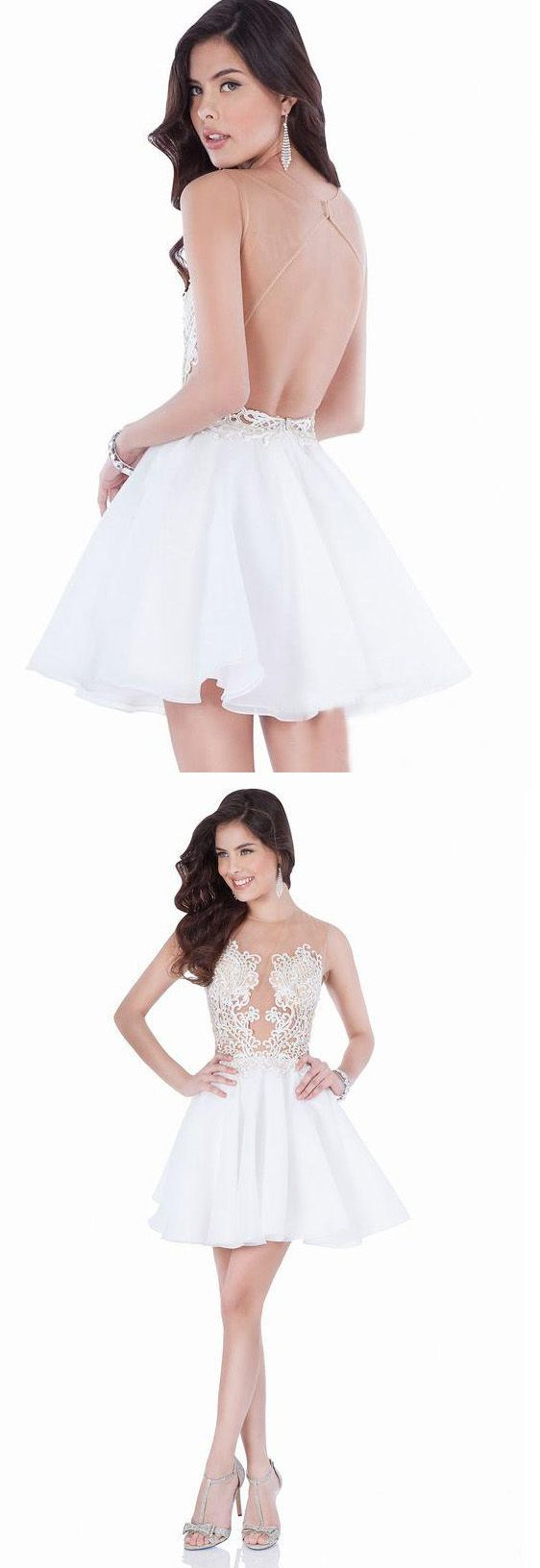 Short homecoming prom dress popular white homecoming dresses with