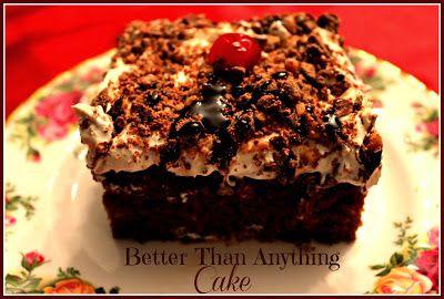 Sweet Tea and Cornbread: Better Than Anything Cake!  AKA Better than Sex cake: chocolate version.