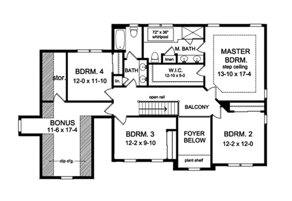 Traditional Style House Plan 4 Beds 2 5 Baths 2472 Sq Ft Plan 1010 129 House Plans Floor Plan Design Floor Plans