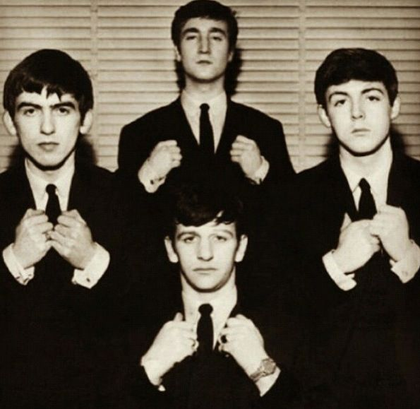 The Fab Four  The Beatles  John Lennon  Paul McCartney  Ringo Starr (Richard Starkey) George Harrison