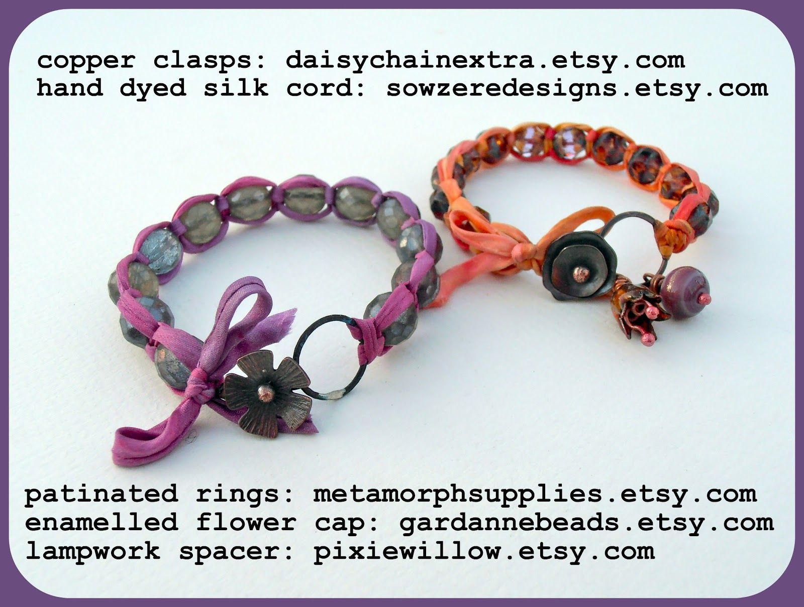 Square Knot Bracelet Tutorial with ribbon