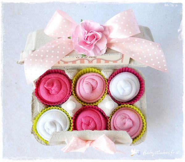 c03c898abc3 Chaussettes bébé Socks cupcakes - Cadeau de naissance