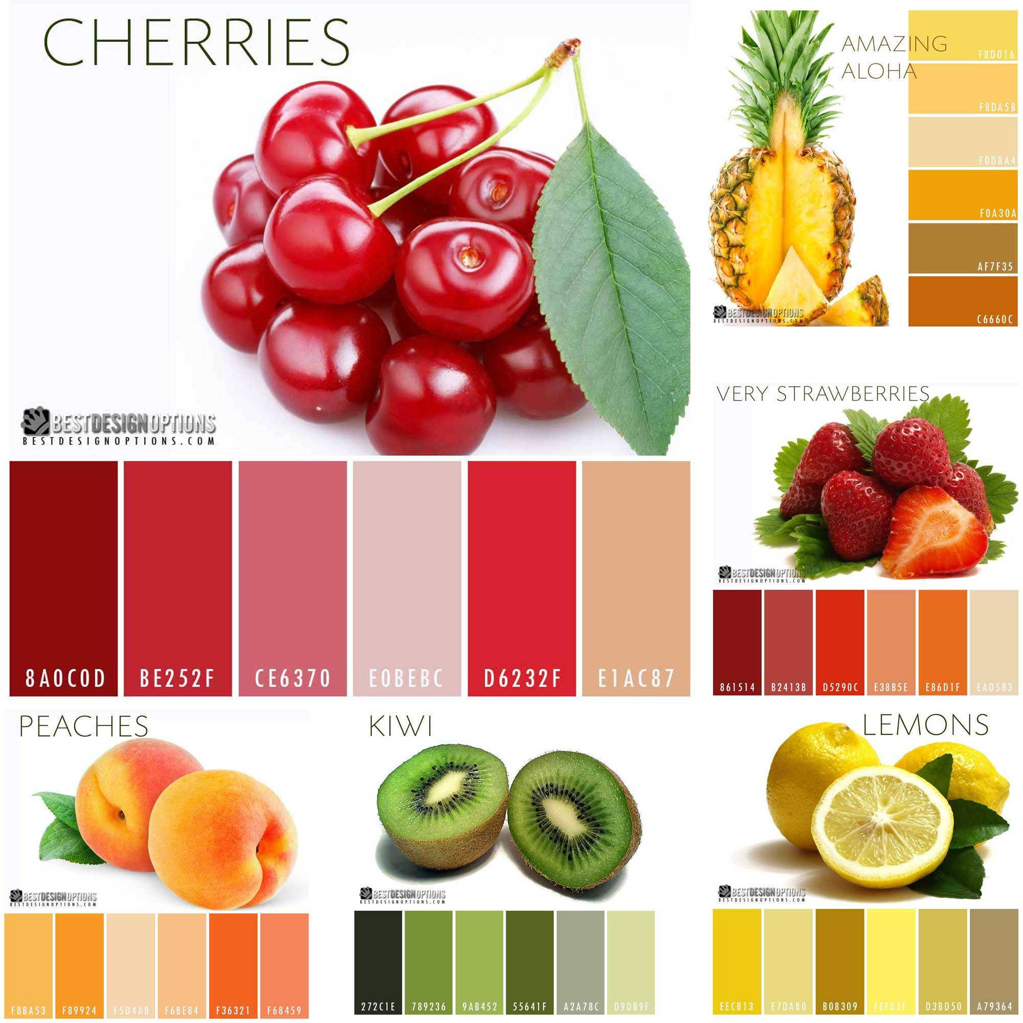 Fruity Color Palettes Checkout More Interesting Palettes By Clicking On
