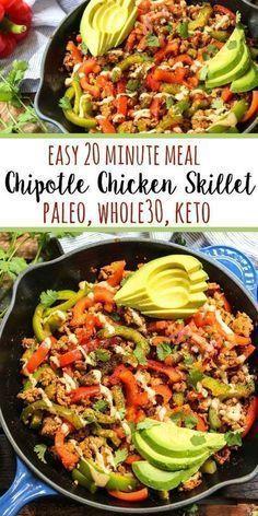Whole30 Chipotle Chicken Skillet Paleo Keto GF  Whole Kitchen Sink