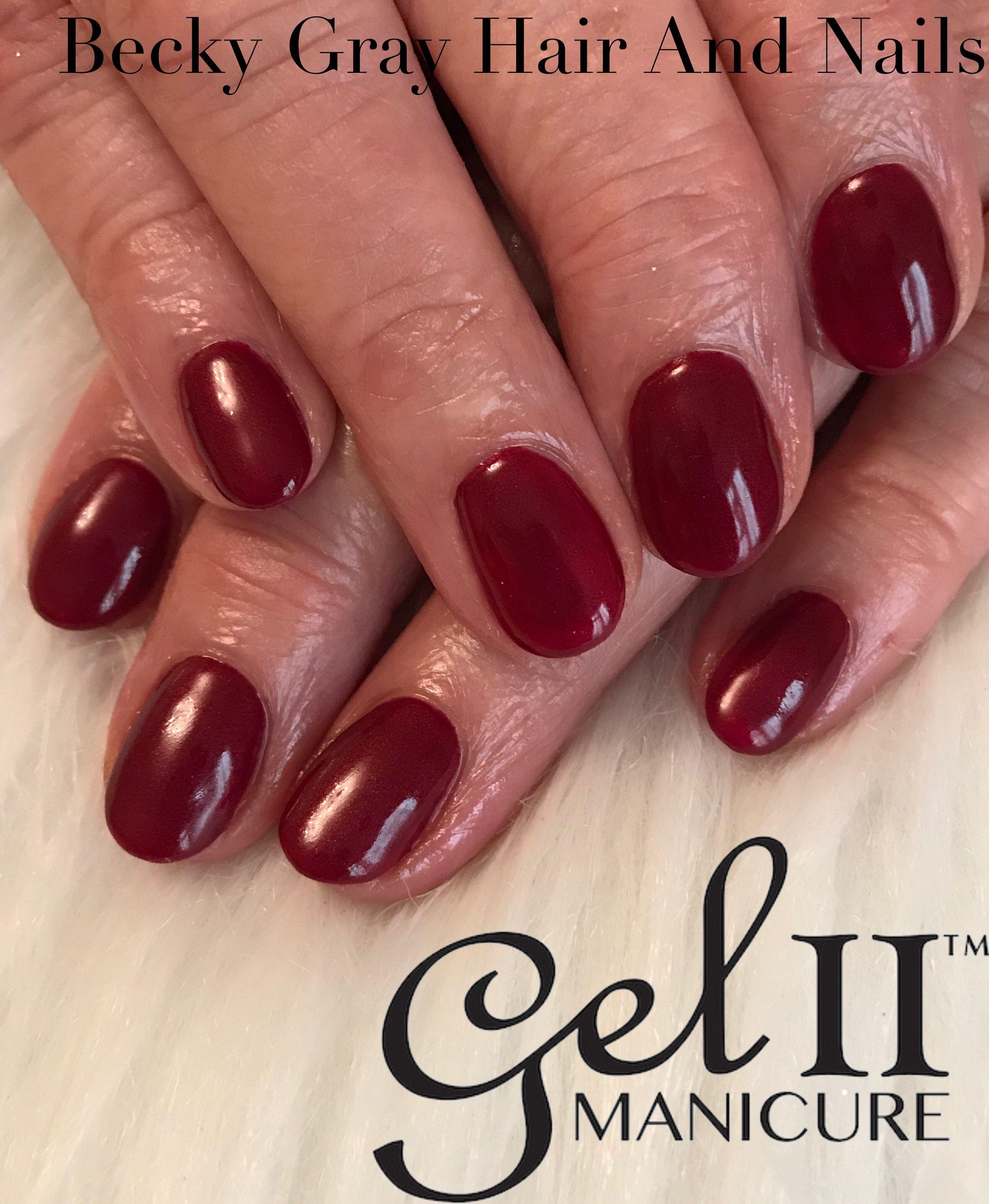 Gel ii manicure cactus wine  #gelii #geltwo #nailart #manicure #showscratch #scratchmagazine