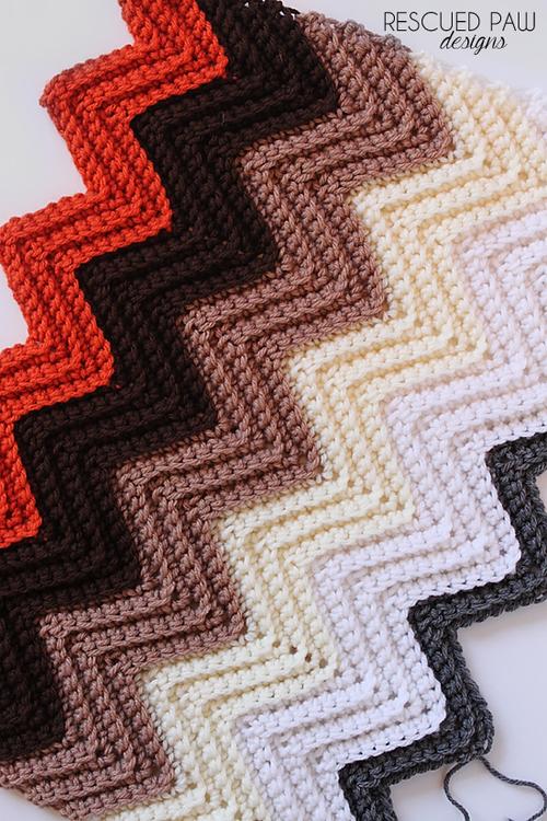 Easy Chevron Crochet Blanket Pattern | crochet | Pinterest | Häkeln ...