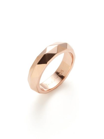 Elizabeth and James  Rose Gold Geodesic Ring