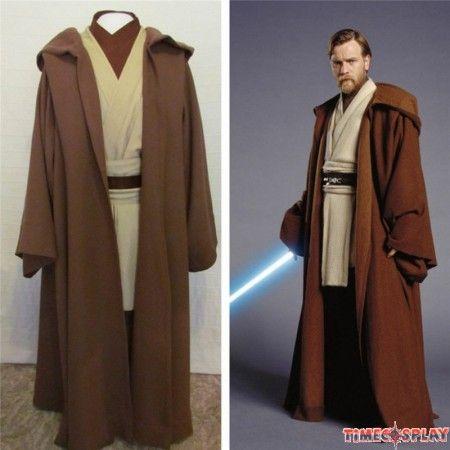 Star Wars Obi-Wan Jedi Master Original Costumes Cosplay Outfit ...