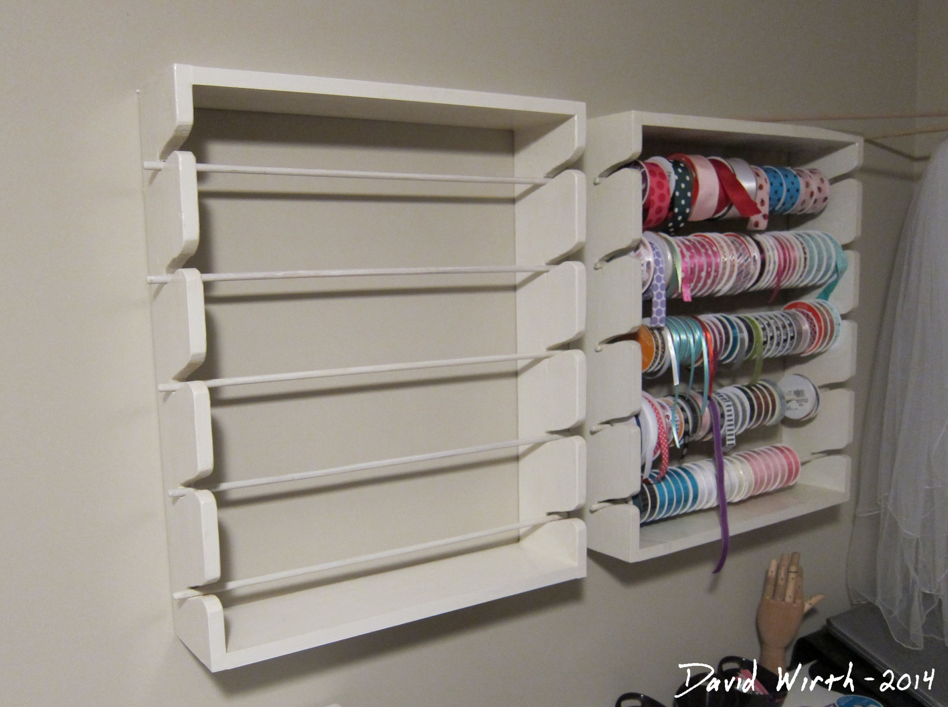 Ribbon Rack Rack Shoe Rack Diy Craft Projects