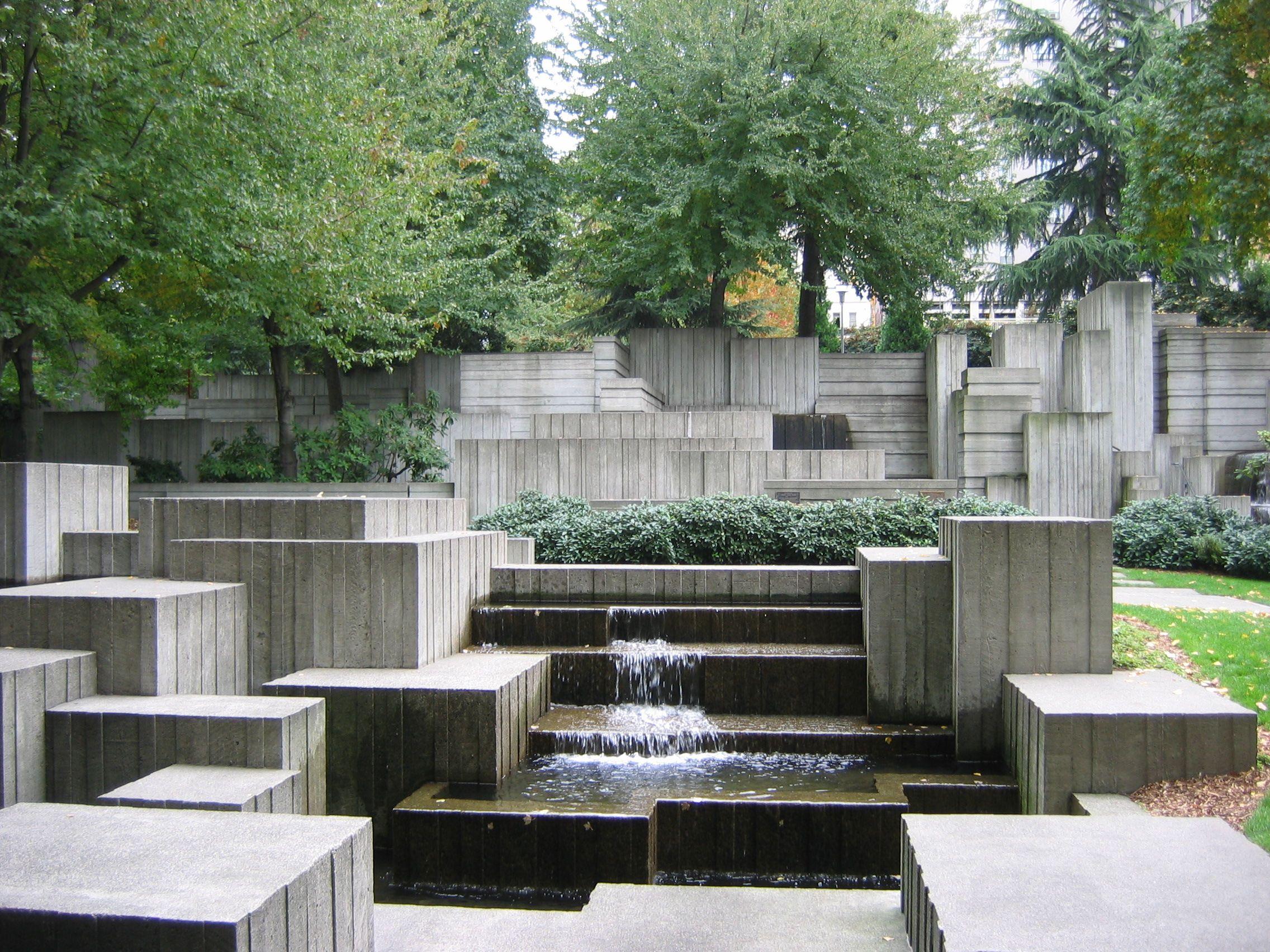 Lawrence Halprin Legacy Freeway Park Seattle Wa Photo By Charles Birnbaum Landscape Architecture Landscape Design Landscape Architect