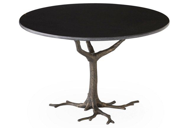Faux Bois 41 Dining Table Granite Iron Dining Table Round