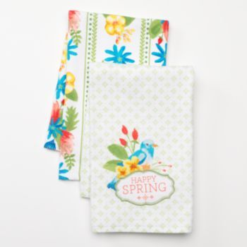 Sonoma Goods For Life Happy Spring 2 Pk Kitchen Towels Happy