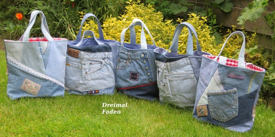 jeans upcycling shopper upcycling pinterest n hen jeans tasche. Black Bedroom Furniture Sets. Home Design Ideas
