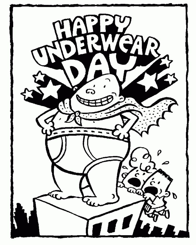 Printable Captain Underpants Coloring Pages Free Design