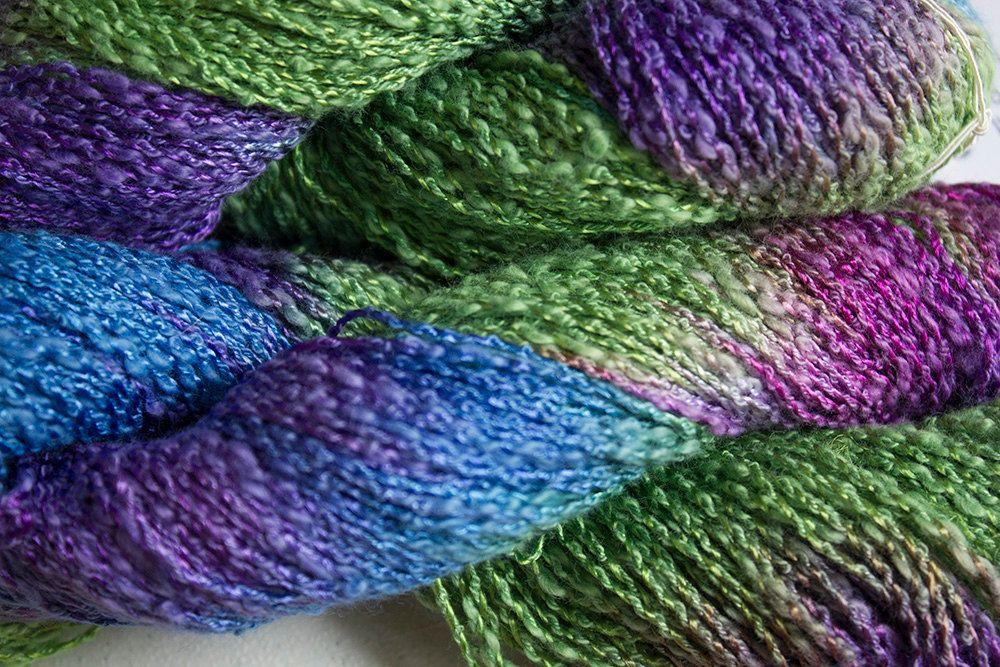 225 yds Leaf Tonal Sparrow CottonRayon Boucle Yarn