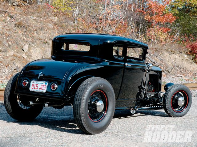 1931 Ford Highboy Five Window Fade To Black Hot Rod