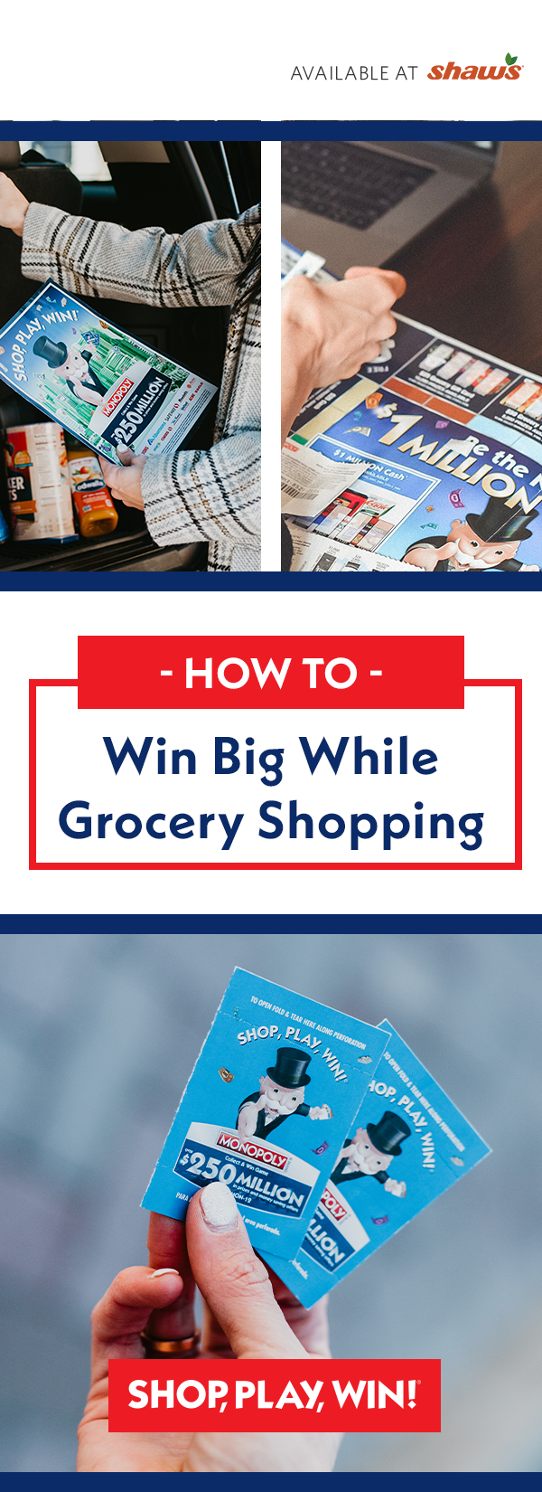 Albertsons Monopoly is Here! Grocery essentials