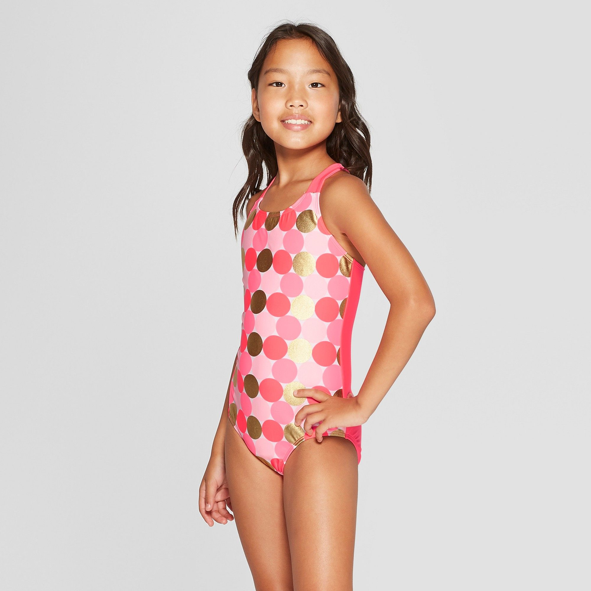 ed690143e8 Girls' One Piece Swimsuit - Cat & Jack Pink S, Girl's, Size: Small ...