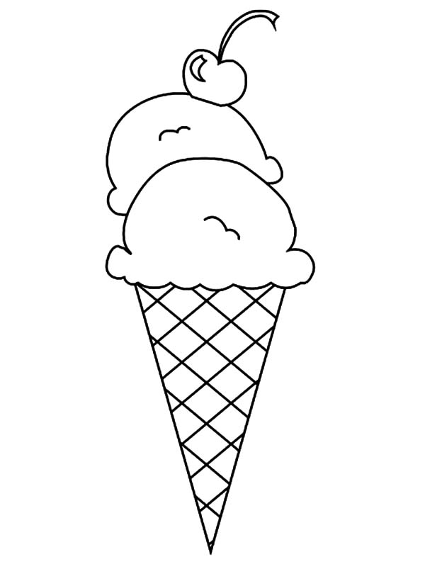 Double Scoop Ice Cream Cone Coloring Pages Bulk Color With Images Ice Cream Coloring Pages Cupcake Coloring Pages