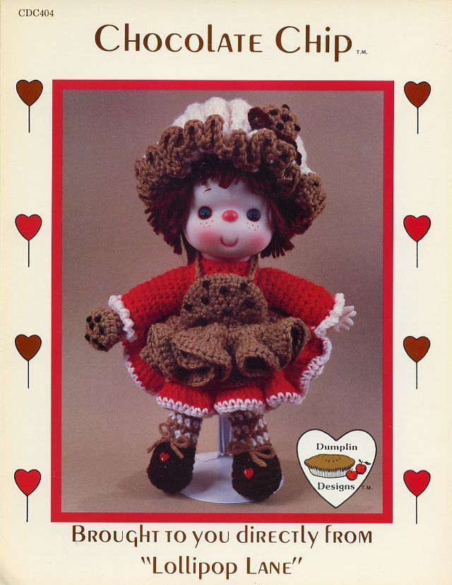 Chocolate Chip, Dumplin Designs Toy Doll Crochet Pattern CDC404 ...