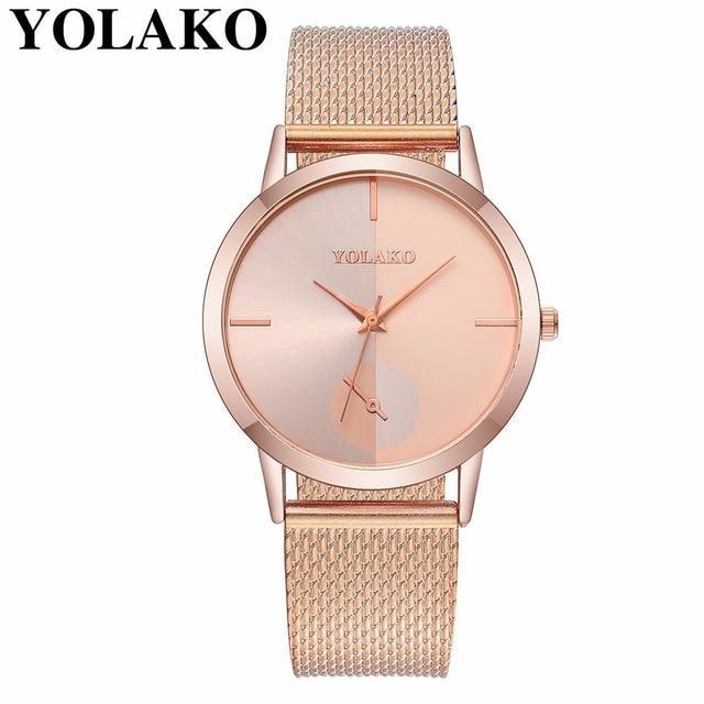 Women's Watches Vansvar Watch Women Watches Luxury Fashion Mesh Casual Quartz Analog Dress Wrist Watch Gift Relogio Feminino Reloj Mujer New P#