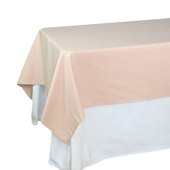 Blush Rectangle Tablecloths 60 X 102 Inches, Rectangular Blush Table  Overlays | Wholesale Blush Table Linens, Wedding Table Decor