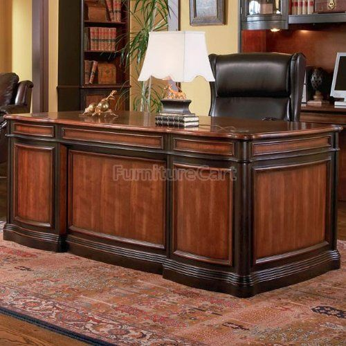 Two Toned Grand Style Home Office Desk By Coaster Furniture By Coaster Home Furnishings 1199 39 Home Office Design Traditional Home Office Home Furnishings