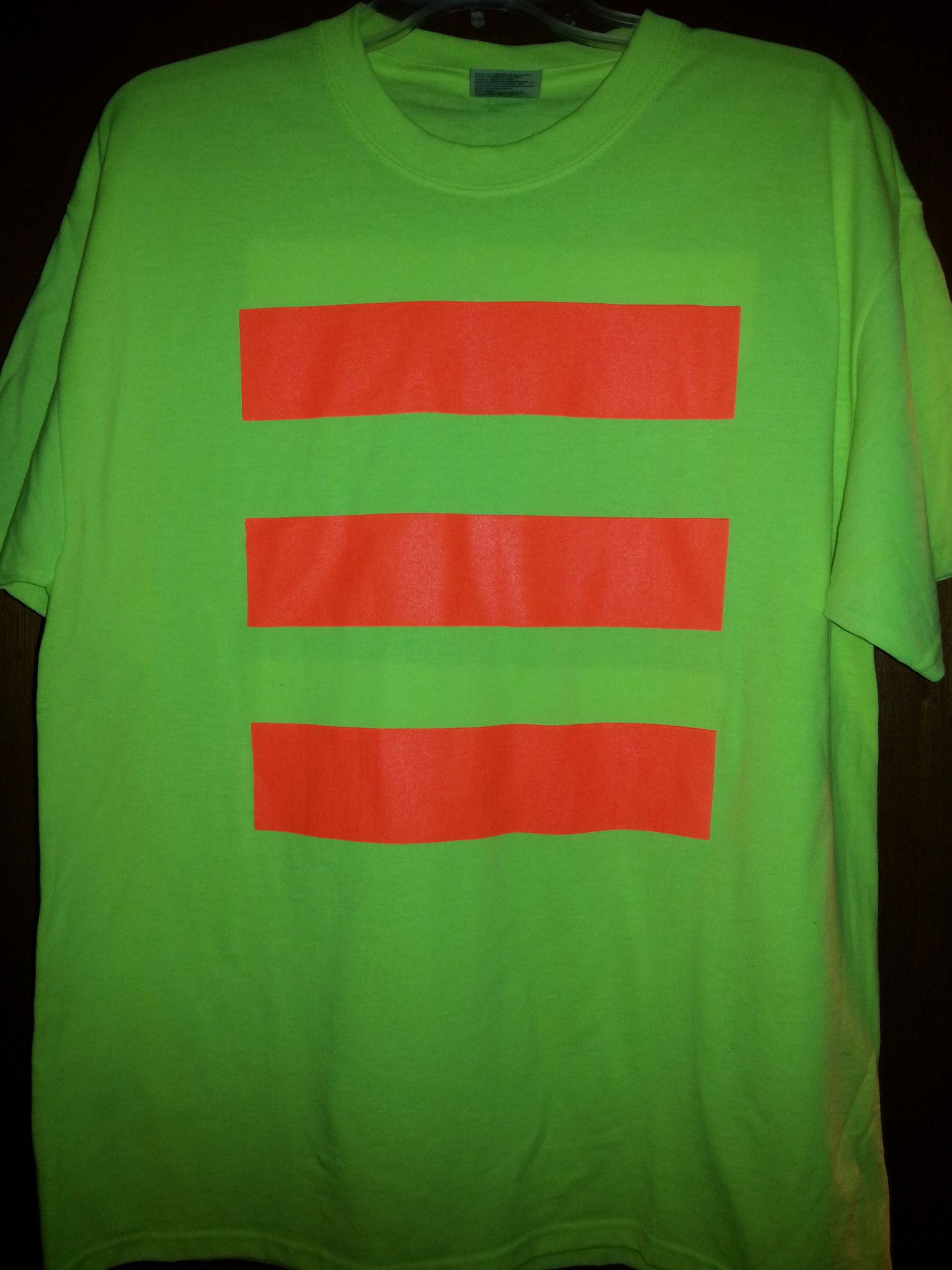 Port & Company PC55G Hi Vis Safety TShirt with Stripes