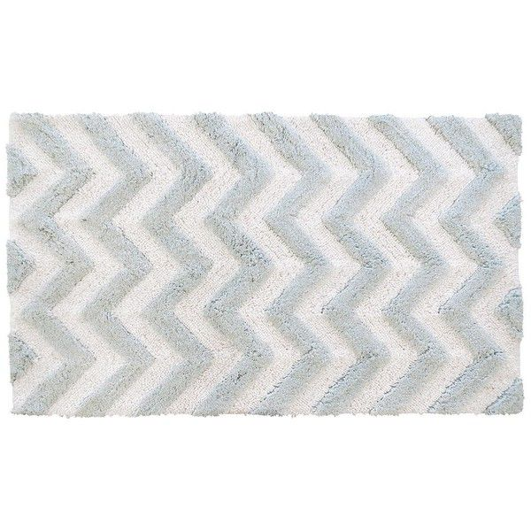 Park B Smith Ultra Spa Zig Zag Chevron Bath Rug Featuring Polyvore Home
