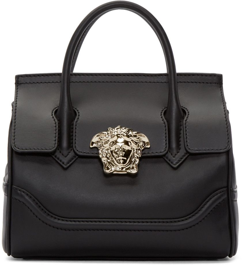 VERSACE Black Medium Palazzo Bag.  versace  bags  shoulder bags  hand bags   leather 0bce5ae1a7e7d