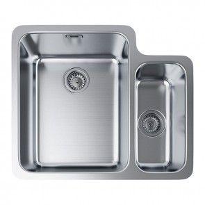 Franke Hydros Hdx 160 34 15 Undermount 1 5 Bowl Kitchen Sink Stainless Steel Banyo Co Uk Franke Sink Sink Stainless Steel Kitchen Sink