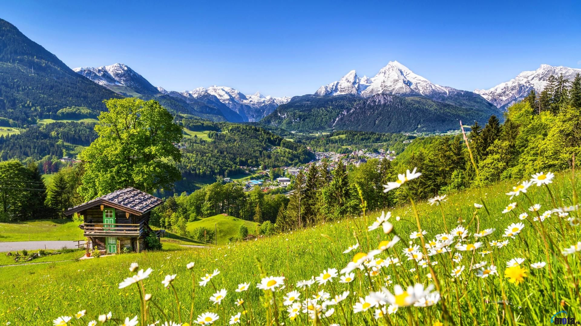 Nature Spring Mountain House Scenic Landscape Beautiful Places National Parks