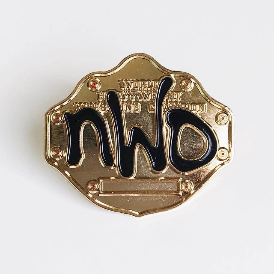 #Repost @lto_ca  The brand new NWO Championship pins are available in our shop get it now and show that you're NWO4LIFE! . . . . . #PinGame #Pinstagram #PinsOfIG #PinCollector #PinCommunity #PinLife #PinCrüe #LapelPin #EnamelPin #biggoldbelt #nwo #wcw #wwf #wwe #wrestling #prowrestling #toosweet #toosweetme #hulkhogan #scotthall #kevinnash #nwowolfpack #mondaynightwars #mondaynitro #attitudeera #worldchampionshipwrestling
